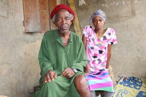 The Water Project: Kamasondo, Raka Village -  Traditional Doctor And Patient