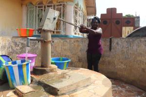 The Water Project: Rotifunk, #4 Abidjan Street -  Collecting Water