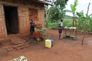 The Water Project: Isagara Primary School -  Family Dishrack