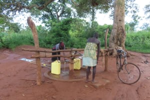 The Water Project: Kyamaiso Community -  Collecting Water