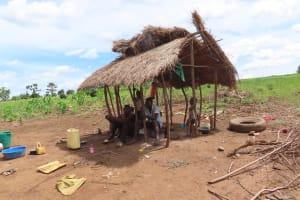 The Water Project: Rwenkole Community -  Outside Kitchen