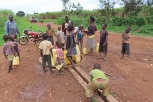 The Water Project: Kyakaitera Community -  Children At The Pump