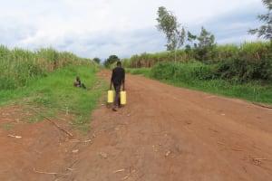 The Water Project: Kyakaitera Kyempisi Community -  Carrying Water
