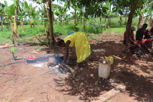 The Water Project: Kikingura Kidwaro Community -  Cooking Fire