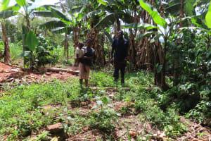 The Water Project: Kikingura Kidwaro Community -  Latrine With No Structure
