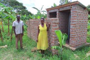 The Water Project: Kikingura Kidwaro Community -  Latrine