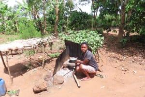 The Water Project: Kikingura Kidwaro Community -  Outside Kitchen