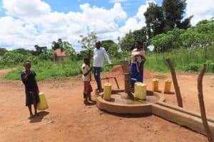 The Water Project: Kikingura Kidwaro Community -  Water At Pump
