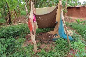 The Water Project: Kyabagabu Community -  Bathing Shelter