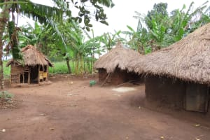 The Water Project: Kyabagabu Community -  Households Compound