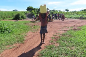 The Water Project: Kyandangi Community -  Carrying Water