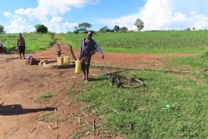The Water Project: Kyandangi Community -  Hauling Water
