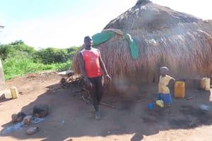 The Water Project: Kyandangi Community -  Outside Fire
