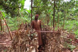 The Water Project: Kiryamasasa Community -  Bath Shelter