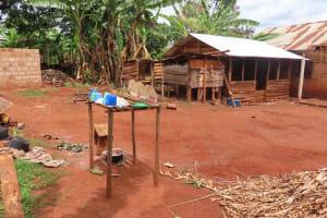 The Water Project: Kiryamasasa Community -  Dishrack Drying