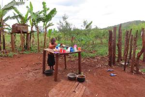The Water Project: Kiryamasasa Community -  Dishrack