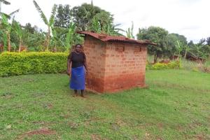 The Water Project: Kiryamasasa Community -  Latrine
