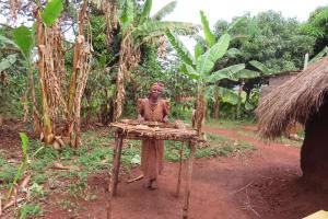 The Water Project: Kiryamasasa Community -  New Dishrack