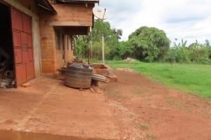The Water Project: Kiryamasasa Community -  Storage Tank