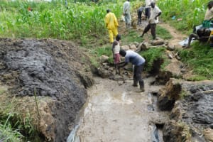 The Water Project: Shianda Community, Akhonya Spring -  Foundation Slab