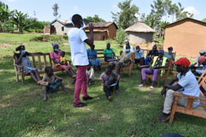 The Water Project: Shianda Community, Akhonya Spring -  Training In Session