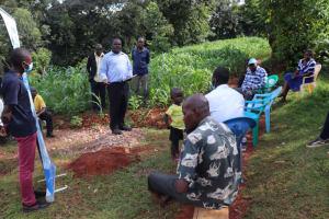 The Water Project: Shikoye Community, Kwa Witinga Spring -  Eric Mambo Addressing The Participants