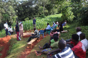 The Water Project: Shikoye Community, Kwa Witinga Spring -  Question Sesion During The Training