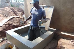 The Water Project: Kapsogoro Primary School -  Manhole Cover Placement