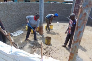 The Water Project: Jivuye Primary School -  Field Officer Helping