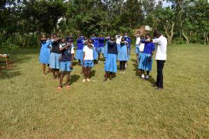 The Water Project: Itabalia Primary School -  Participants Practice Sneezing In Elbow