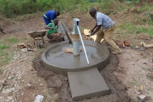 The Water Project: Nsamya Nusaff II Well -  Casting The Aprons