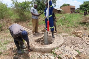 The Water Project: Nsamya Nusaff II Well -  Getting Started