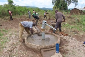 The Water Project: Nsamya Nusaff II Well -  Gotta Have Drainage
