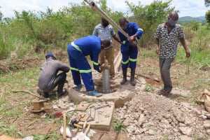 The Water Project: Nsamya Nusaff II Well -  Hard At Work