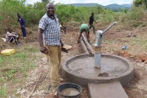 The Water Project: Nsamya Nusaff II Well -  Still Smiling