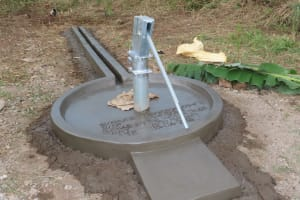 The Water Project: Nsamya Nusaff II Well -  Completed