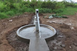The Water Project: Nsamya Nusaff II Well -  Just Needs To Dry
