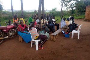 The Water Project: Nsamya Nusaff II Well -  Engaging
