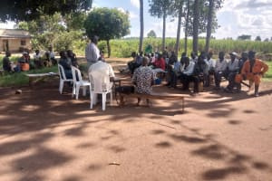 The Water Project: Nsamya Nusaff II Well -  Sunny Training