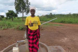 The Water Project: Nsamya Nusaff II Well -  Grace Tabu