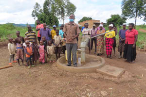 The Water Project: Nsamya Nusaff II Well -  Dedication Ceremony