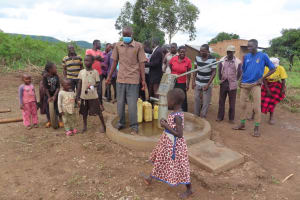 The Water Project: Nsamya Nusaff II Well -  Everybody Gather Round