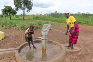 The Water Project: Nsamya Nusaff II Well -  It Works