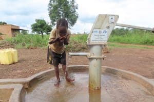 The Water Project: Nsamya Nusaff II Well -  Sweet Hydration