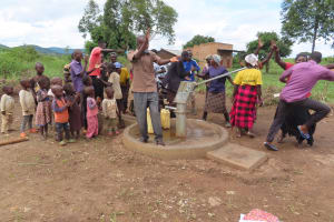 The Water Project: Nsamya Nusaff II Well -  Time To Celebrate