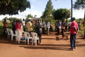 The Water Project: Nsamya Nusaff II Well -  Learning