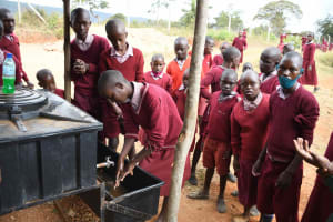 The Water Project: Kako Special School for the Mentally Handicapped -  Handwashing Demonstration