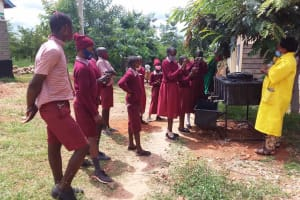 The Water Project: Kako Special School for the Mentally Handicapped -  Handwashing Training