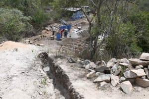 The Water Project: Kaketi Community B -  Construction In Progress