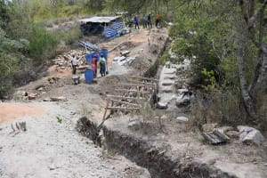 The Water Project: Kaketi Community B -  Sand Dam Beginnings